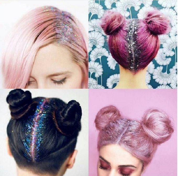 Today we look at glittering roots. We can't get enough of these shiny little particles;) Picture unknown #glitter #beauty #diariesofcitysirens #sirens #mermaid #coffee #black #blackcoffe #silver #fashion #love #hair #roots #glitteringroots #colorfully
