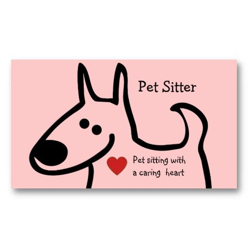 17 best pet sitting business cards images on pinterest business cute pet sitter business cards reheart Images