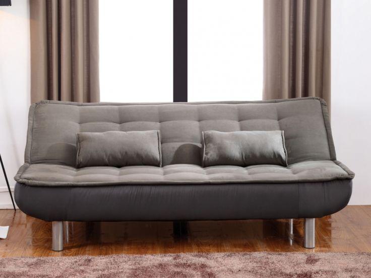Sofa cama clic-clac, en gris MISHAN