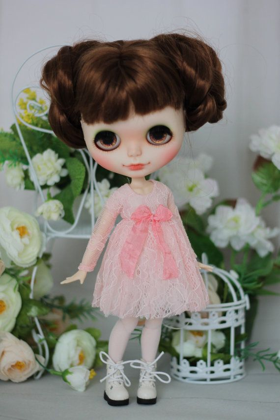 Lace dress with stockings for Blythe / Azone от ElenaShowRoom