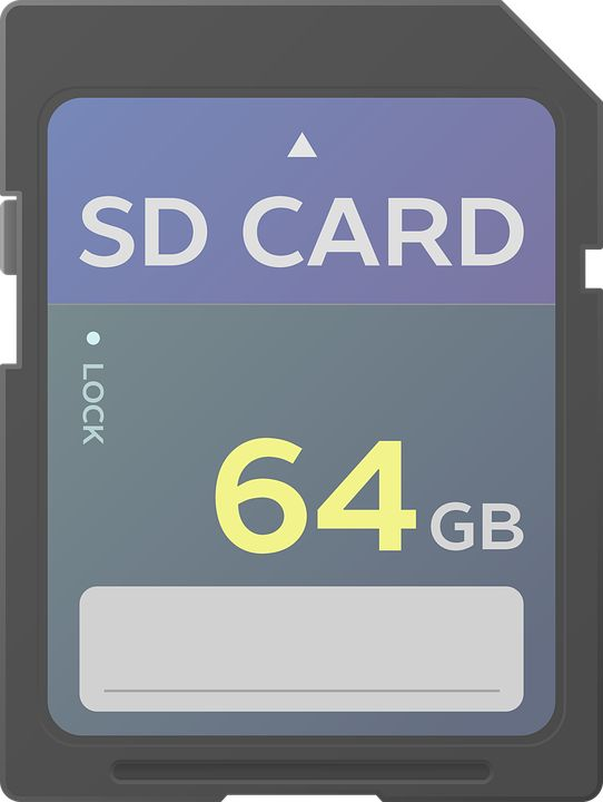 SD 카드 벡터 이미지입니다.   SD card vector image