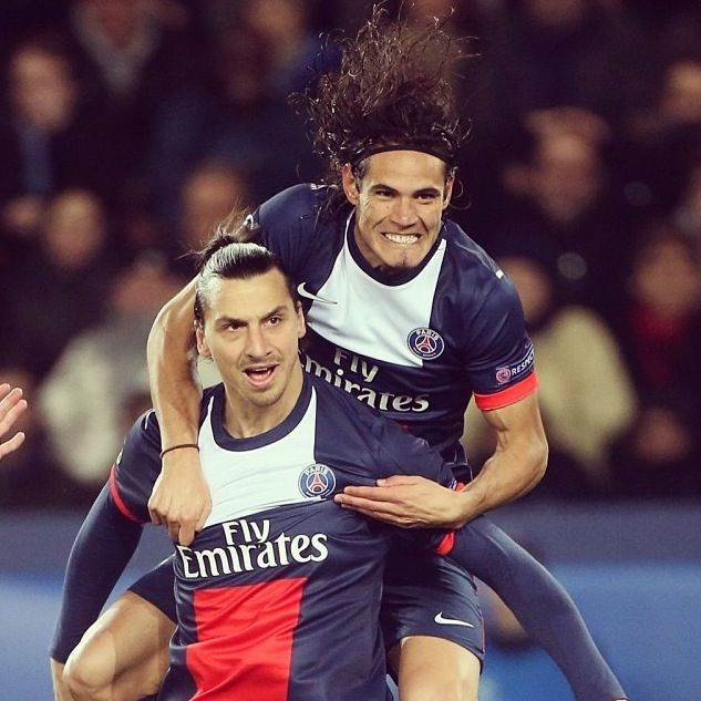 Edinson Cavani and Zlatan Ibrahimovic  PSG
