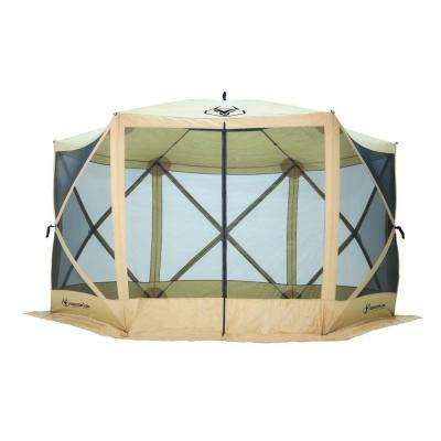 7 ft. Tall Heavy Duty 6-Sided Portable Gazebo with 8-Person Capacity