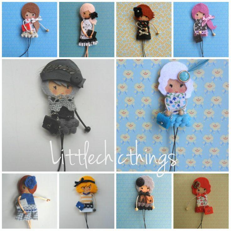 Broches de fieltro littlechicthings