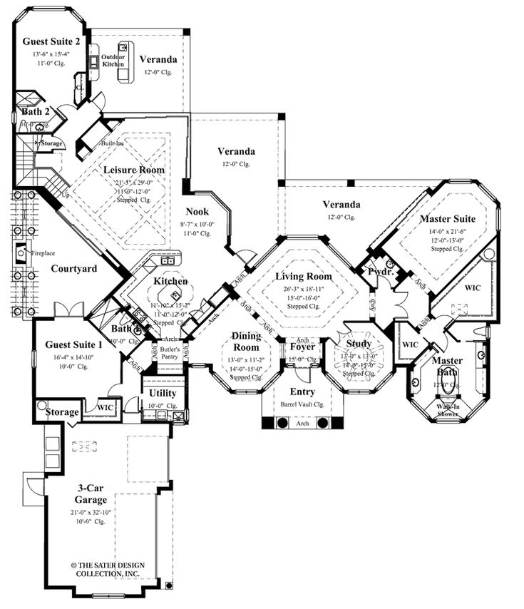 Courtyard Mediterranean House Plans Revival Luxury: 17 Best Images About Courtyard House Plans