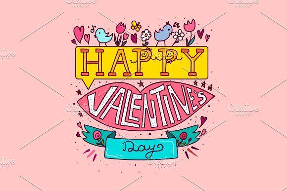 Happy Valentine's Day by barsrsind on @creativemarket