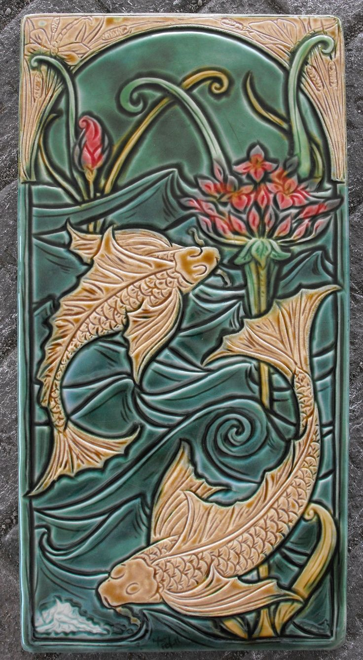 381 best craftsman tiles images on pinterest art tiles tile art art noveau majolica tile work tumblr dailygadgetfo Gallery