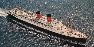 Mauretania Cunard Line Built: 1939 by Cammell Laird, Birkenhead, England Gross tons: 35655 Length: 772ft (235m) Speed: 23kn Width: 89ft (27m) Depth: 30ft (9m) Power: 42000 shp Propulsion: Steam turbines twin screw Passengers: 470 First 370 Cabin 300 Tourist End of service: Scrapped 1965