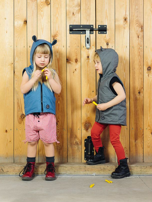 Vest BLUE - Pantaloni Summer Tribes 2015 collection. Double-sided vest with ears. #summer #fashion #kids
