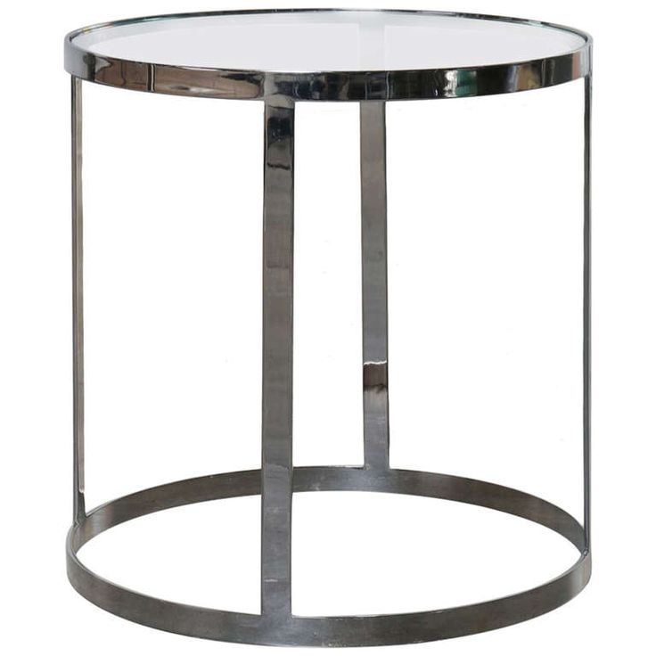 Milo Baughman Chrome And Glass Side Cocktail Table Multiples Available Tops Modern And