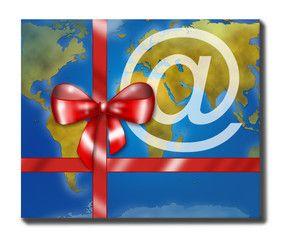 Pacco regalo da commercio globale
