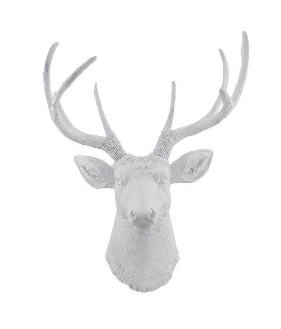 white deer head with antlers life size faux resin white deer head faux taxidermy fake animal