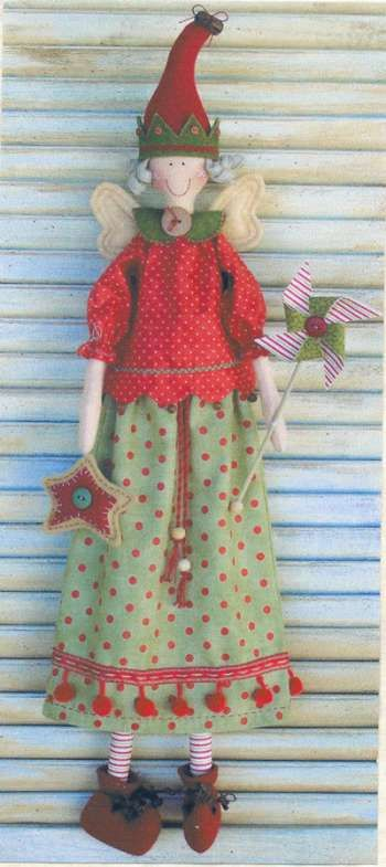 Yuletide Faerie - by Annie Smith Designs - Doll Pattern