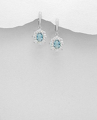 Denne fantastiske blå øreringe er super elegante og vil fremme brudens stil og personlighed. Norlume.dk 2017