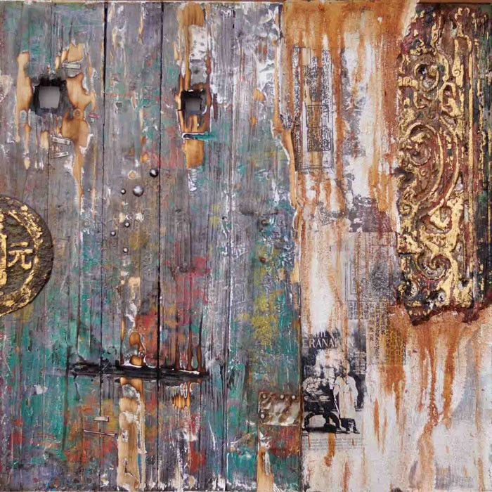Distressed, Colorful Barn Door Wall Art For The Bathroom. Get Yours From  WayFair With