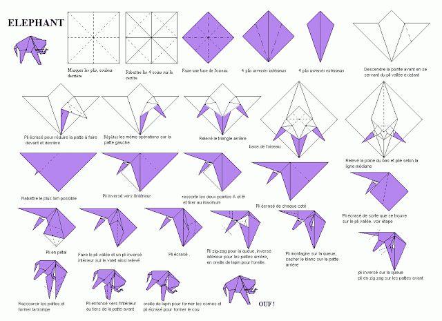 origami elephant origami pinterest origami elefant origami und anleitungen. Black Bedroom Furniture Sets. Home Design Ideas