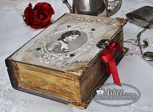 oryginalne pudełko w kształcie starej książki - warsztat jak zrobić