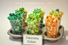 Hola a todos… ¿Os habéis dado cuenta que rico y que fácil es hacer palomitas dulces en casa...? Esta vez de colores¡¡¡¡ Súper divertida...