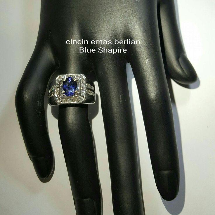 For Man👨. Cincin Emas Berlian Blue Shapire💎💍.   🏪Toko Perhiasan Emas Berlian-Ammad 📲+6282113309088/5C50359F Cp.Antrika👩.  https://m.facebook.com/home.php #investasi#diomond#gold#beauty#fashion#elegant#musthave#tokoperhiasanemasberlian