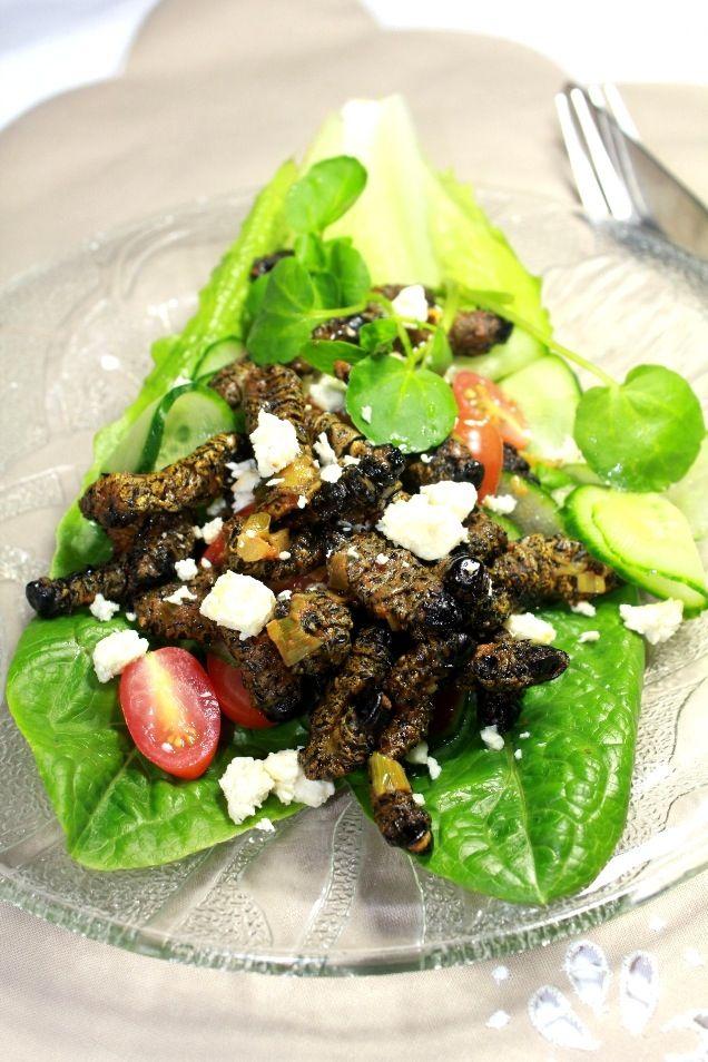 Taste of africa- Mopani worms!