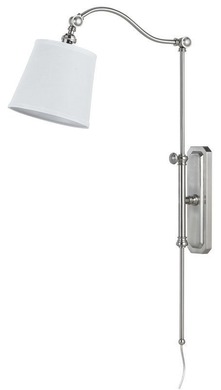view the cal lighting wl2474 pompano 1 light plug in wall sconce at