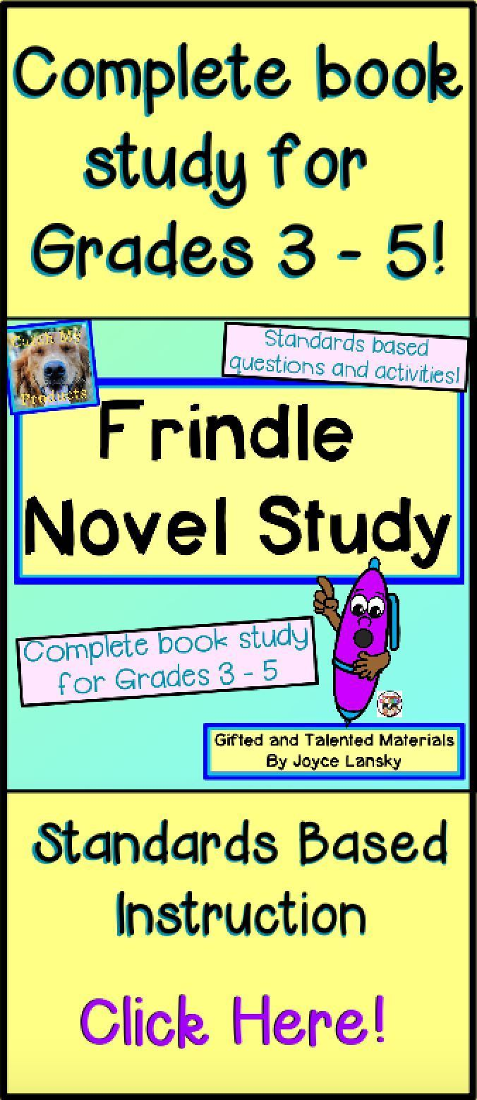 Teach Frindle through this complete novel study!