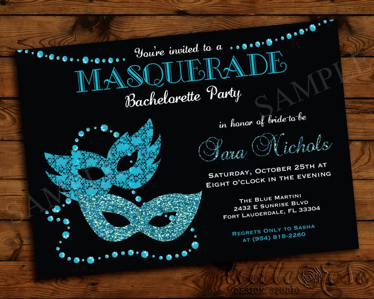 Masquerade Bachelorette Party Invitation  by LittleRoseStudio, $12.00