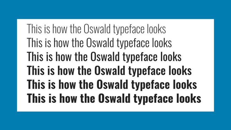Free web fonts Oswald