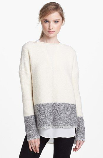 Vince 'Square' Boatneck Sweater available at #Nordstrom