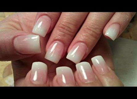 milky french manicure acrylic 30 ideas  ombre nails