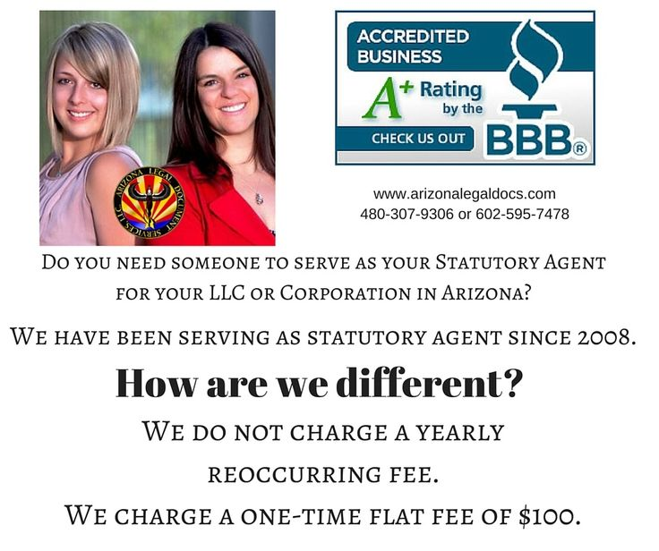 how to find a statutory agent in arizona