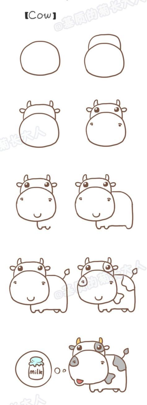 Step by step drawing : learn to draw a cow / Dessi…