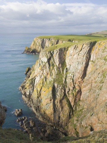 Rocky Coast on the Mull of Galloway, Scotland, the Most Southerly Tip, UK