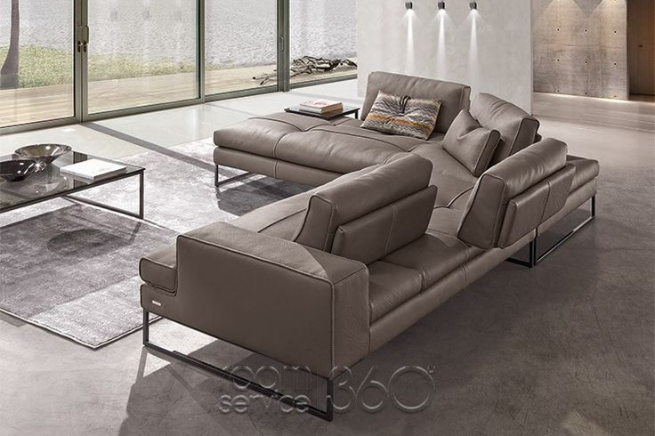 sunset leather sectional sofa by gamma arredamenti