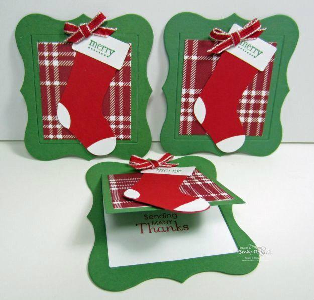 Рождественские чулки Теги |  Идеи для развлечения и творческих DIY Рождественский подарок теги