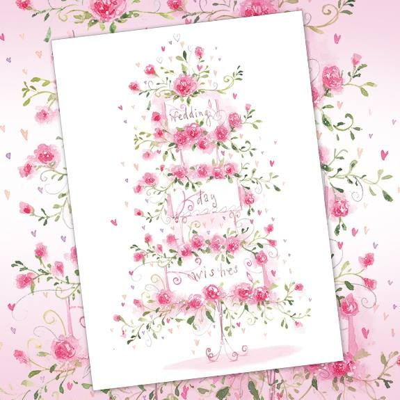 Wedding Day Wishes.  Beautiful flittery, flittery wedding card from Phoenix Trading.  £1.75 or save 20% when you buy 10 or more cards of any design. Buy gorgeous exclusive wedding cards online @ www.joscards.co.uk