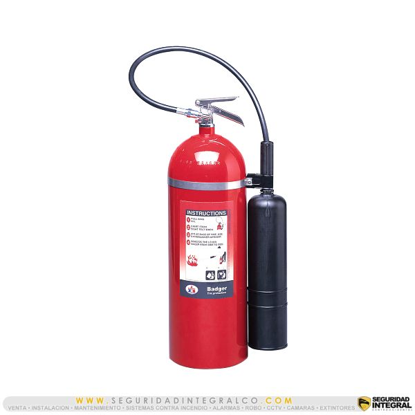 ► Extintor de CO2, BC 20 Lbs ● B20V