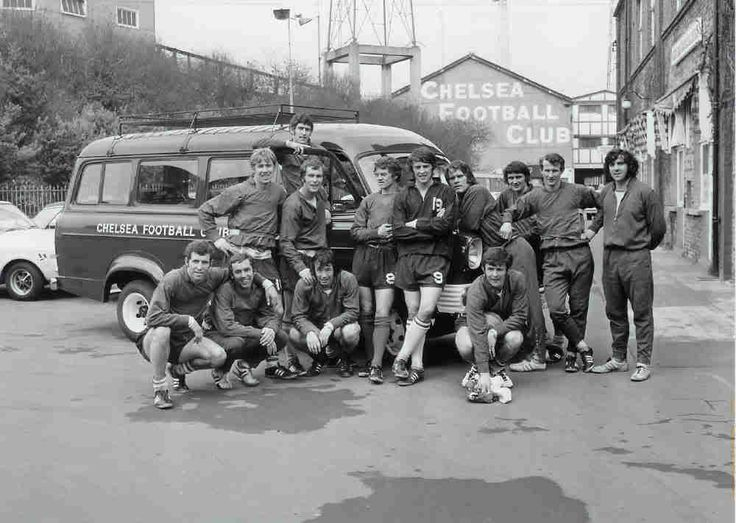 How times have changed, the 1970 Chelsea FC Offiicial transit van!