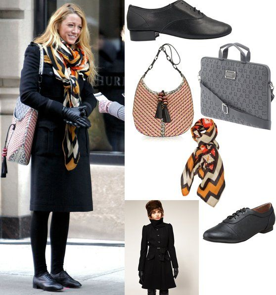 FALL: Black coat, Black Gloves, Black Leggings or tights, colorful Scarf, and Love the grey quilted bag. Try black boots
