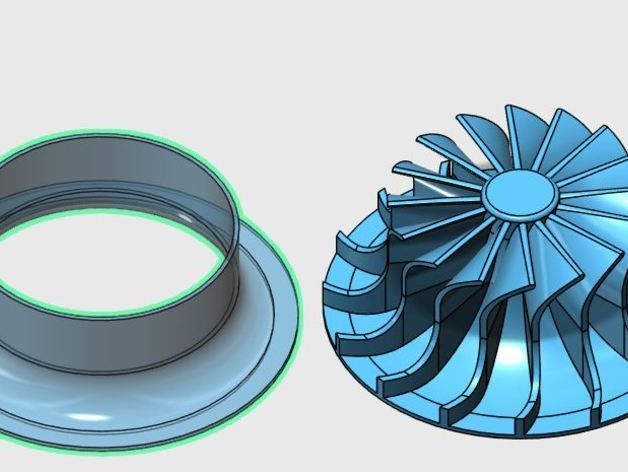 Impeller for centrifugal compressor by TanyaAkinora - Thingiverse                                                                                                                                                                                 More