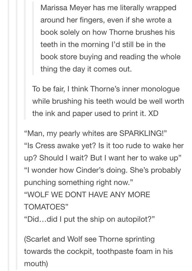 (Thorne sprinting towards the cockpit, toothpaste foam in his mouth.)