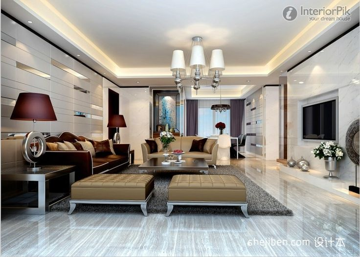 simple european marble living room tv background wall | house