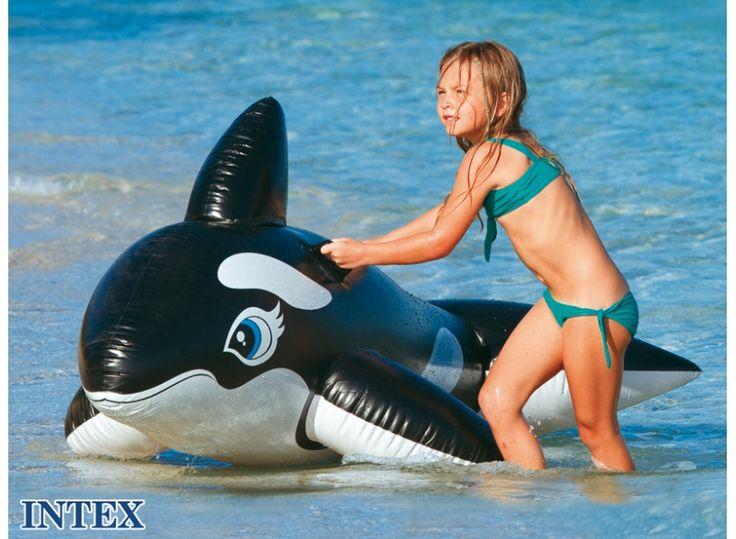 Intex открытый весело и спорт детский надувной дельфин всадник воды надувные матрасы, размер 188*115 см