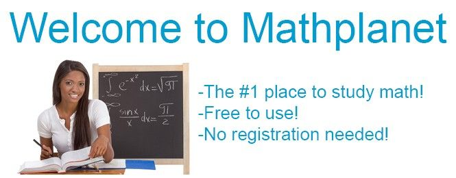 ***Study math online for free. With Mathplanet you can get math tutoring online and help with Pre Algebra, Algebra 1, Algebra 2 and Geometry. Get SAT and ACT worksheets for math.***