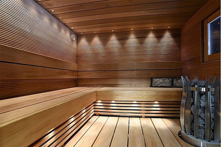 Led-valaistus viimeistelee saunan tyylikkään tunnelman