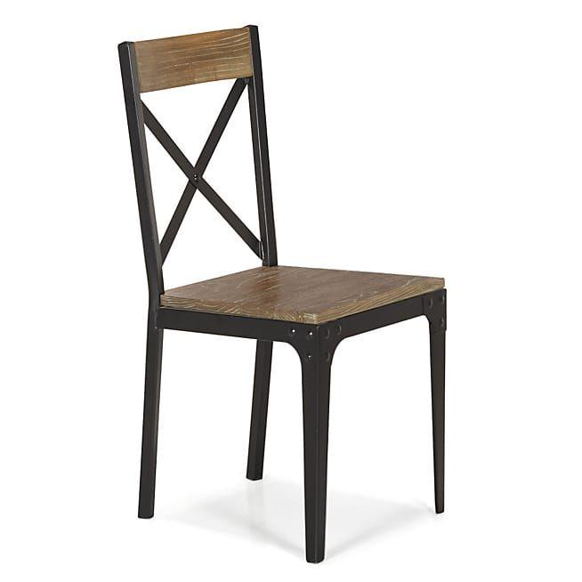 Alinea Bark Chaise Style Industriel En Orme Et Metal Chaise Style Industriel Mobilier De Salon Chaise Bar