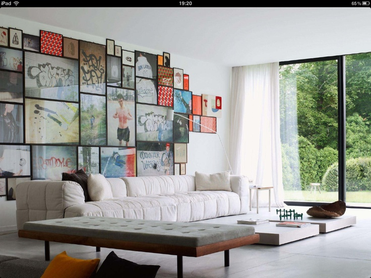 Family picture Art wall... I can so do this!!