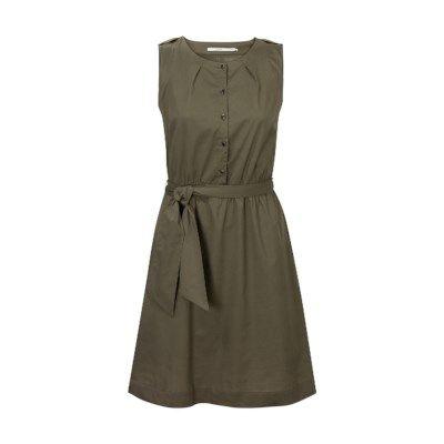 Casual jurk met knoopjes Groen