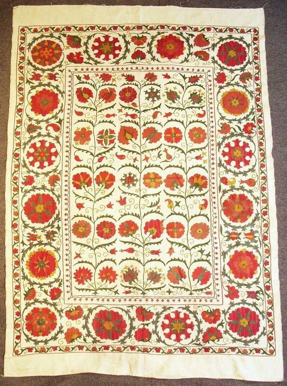 Silk Suzani from Uzbekistan