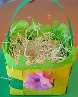 Lavoretti di Pasqua: un cestino di cartoncino